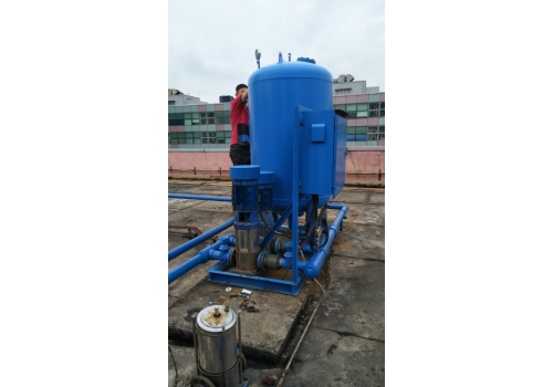 Hydro-pnuematic booster system  maintenance
